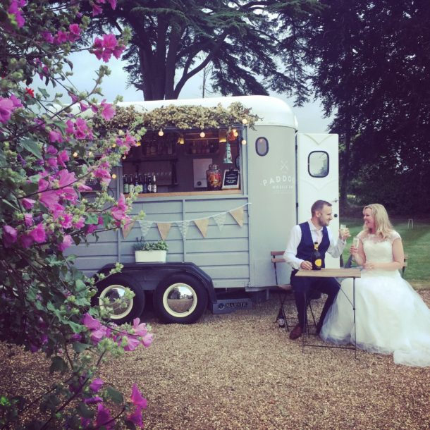 The Paddock mobile bar at Mr & Mrs Grants wedding